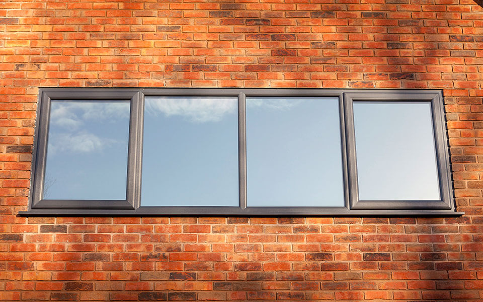 Anthracite Grey aluminium Casement Windows