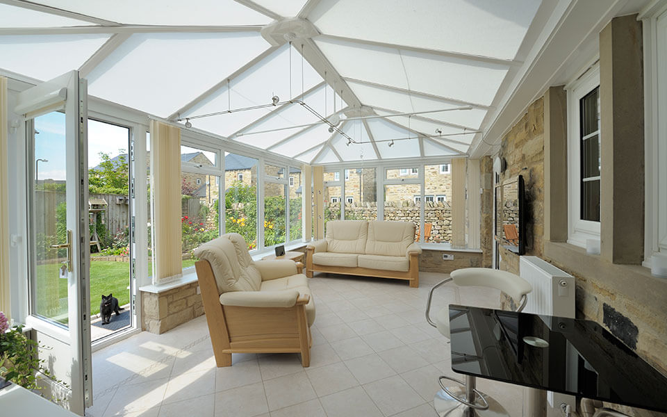 uPVC Edwardian conservatory interior