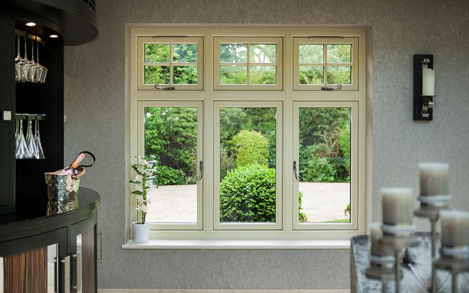 Cream uPVC residence collection window interior view