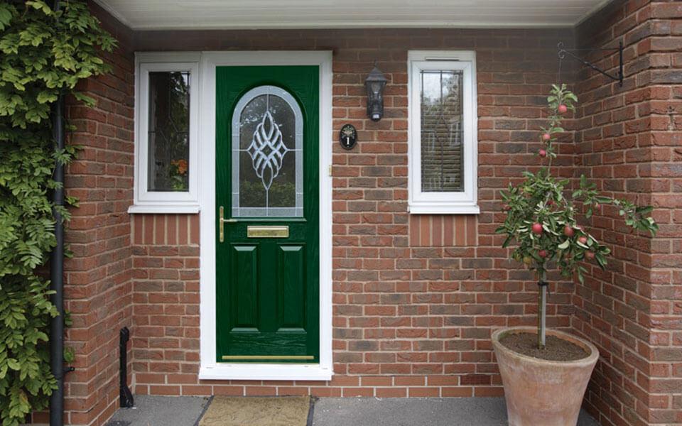 Dark green composite door