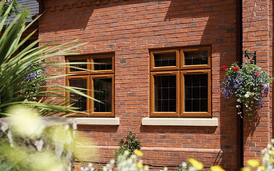 uPVC Oak effect casement windows