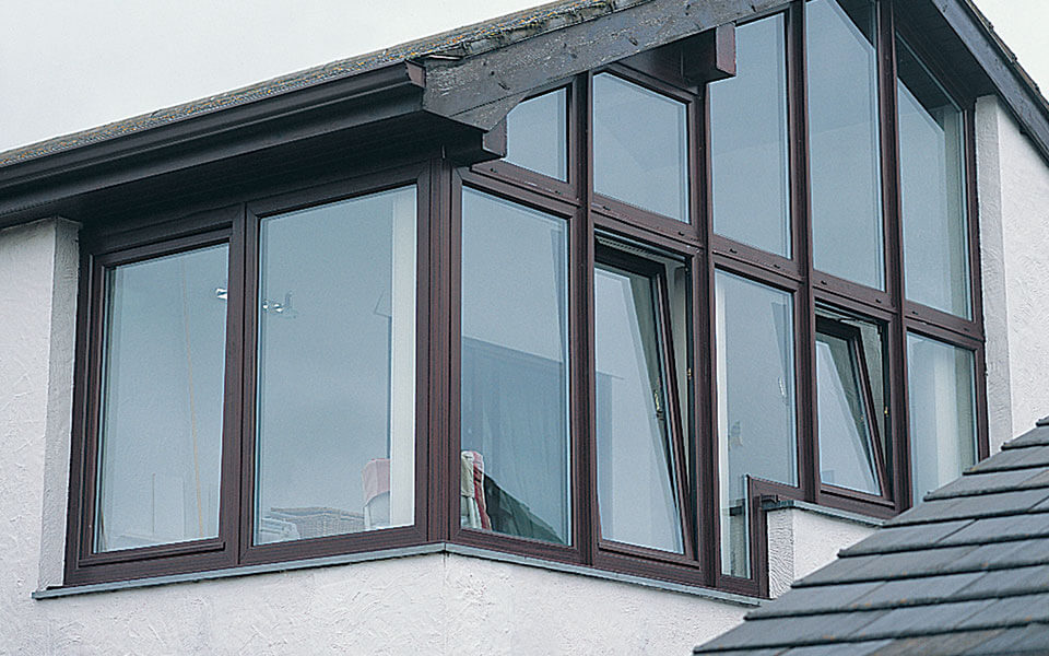 Rosewood uPVC tilt and turn windows