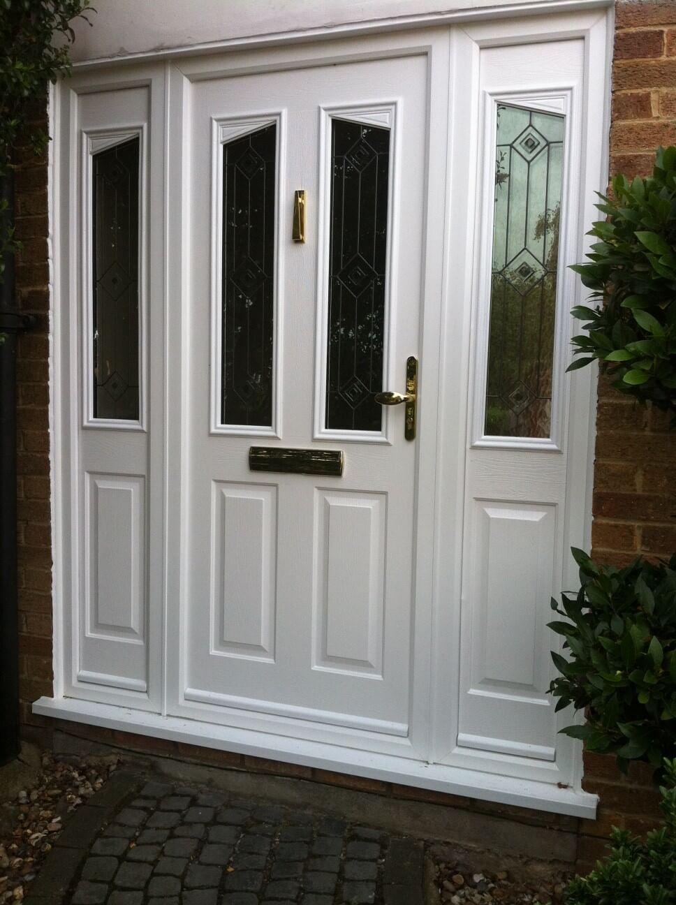 White Solidor Entrance Door