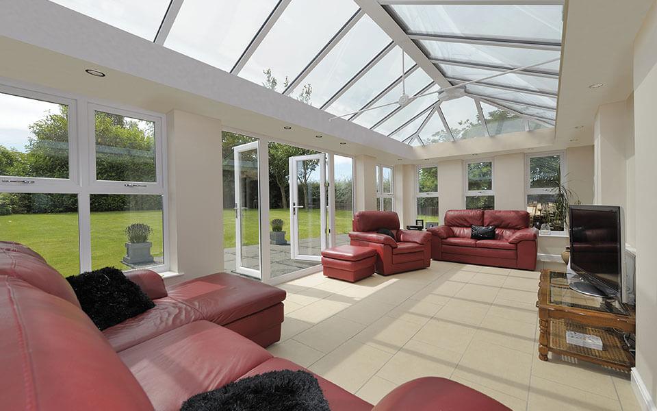 White uPVC Orangery interior