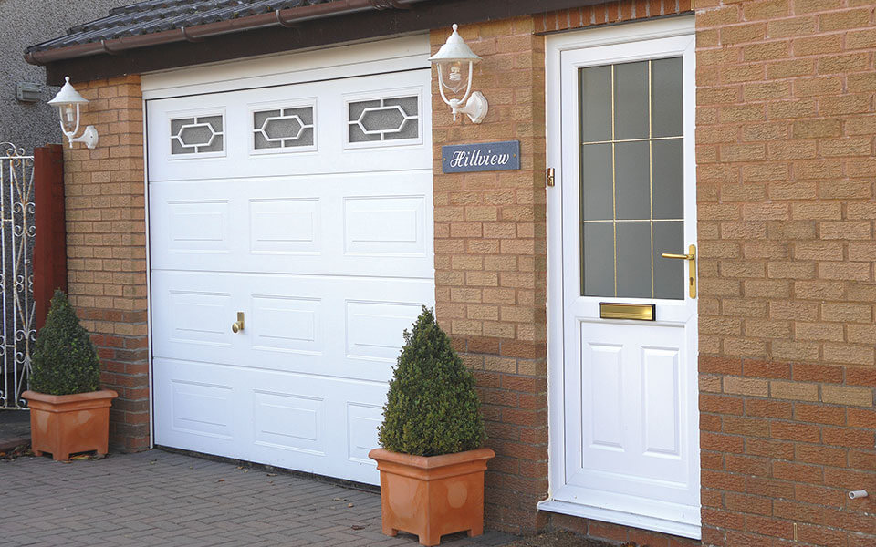 Leaded uPVC residential entrance door