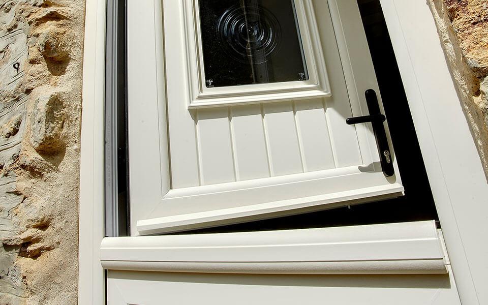 Cream uPVC stable door